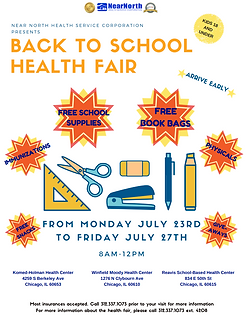 July Back to School Health Fair