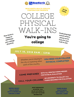 College Physical Walk-ins