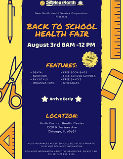 August 3rd Back to School Health Fair