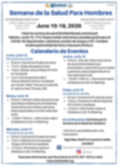 Spanish MHW 2020 Schedule of Events Flye