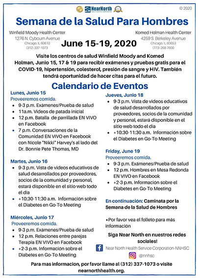 Spanish MHW 2020 Schedule of Events Flye
