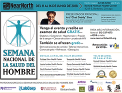 Men's Health Week Flyer in Spanish