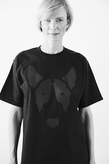 Unisex T-Shirt - Big Face BLACK+BLACK