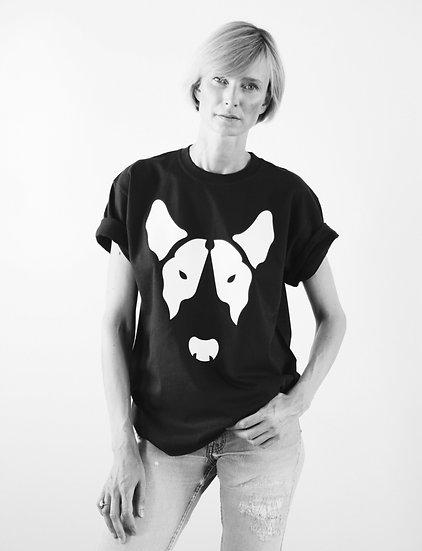 Unisex T-Shirt Big Face - BLACK