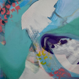 Colliding Elements 3, oils on canvas on birch wood, 36 cm x 45 cm.