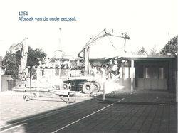 Afbraak oude eetzaal '51