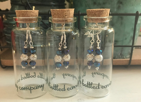Beautiful Deco bead earrings with faceted glass   beads