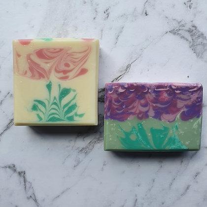 Rose and Lavender Goat Milk Soap Set