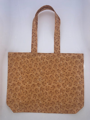 Tote Bag - Tan Kitty Pattern