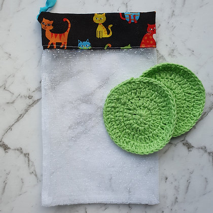 Cotton Face Scrubbies with Wash/Bubble Bag