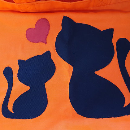 Tote Bag - Love Kitties Oranges