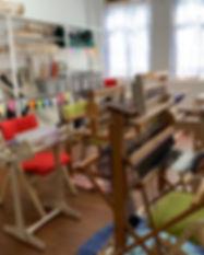Weaving Looms in Craft Atelier