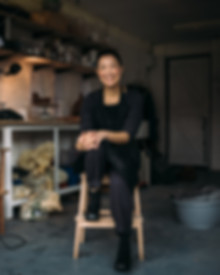 Viv Lee in her studio - Glasgow