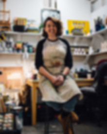 Rachel Millar in her studio - Glasgow