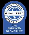 Drone Safe Register logo for Qualified CAA PFCO pilot
