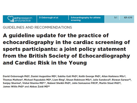 National cardiac screening guidelines for sports participants