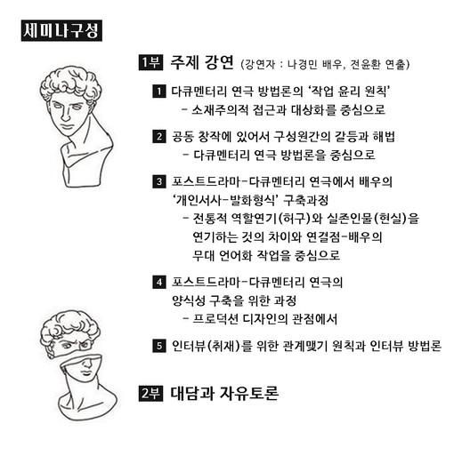 을지아트쌀롱_포스트 드라마 & 다큐멘터리_2_세미나구성