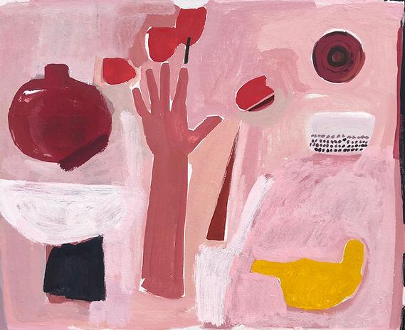 Nancy Gruskin, Tulips as Bog as M Hand #