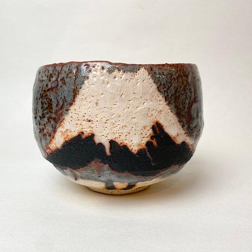 WAKAO TOSHISADA (b. 1933): Tea Bowl with nezumi-shino glaze, 1998