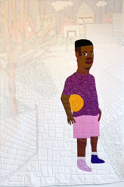 Michael Thorpe, Brandon at The Park, Quilt art