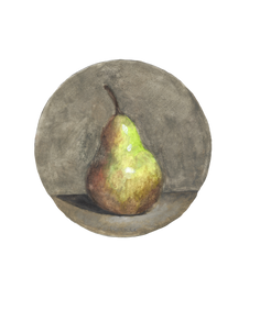 Pear on Light Grey Background, n.d.