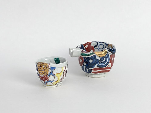 MATSUDA YURIKO (1943), Sake Pourer and Cup