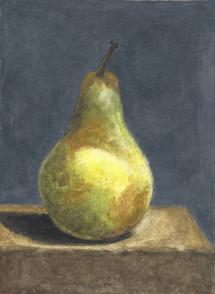 Pear on Grey Background, n.d.