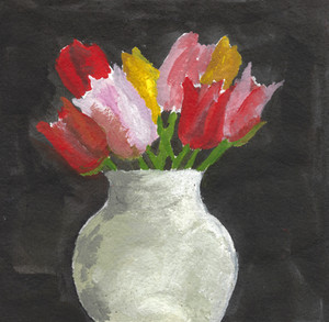 Tulips in a White Vase, n.d.