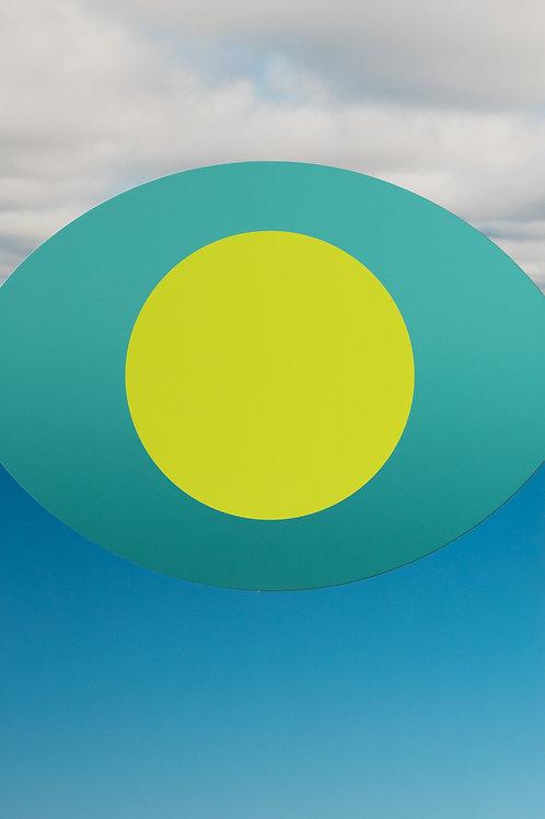 ALYSIA MACAULAY, Chartreuse Circle In The Sky