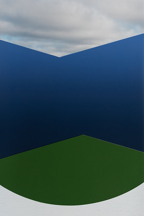 ALYSIA MACAULAY, Ombre Blue w/ Green, White and Clouds