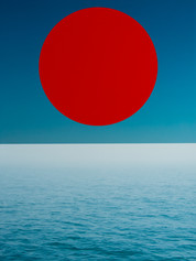 Red Circle Above the Sea, 2018