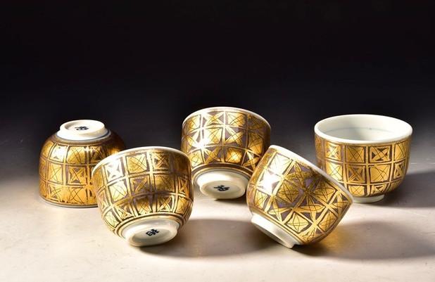 ONO HAKUKO (1915-1996) Set of Five Guinomi