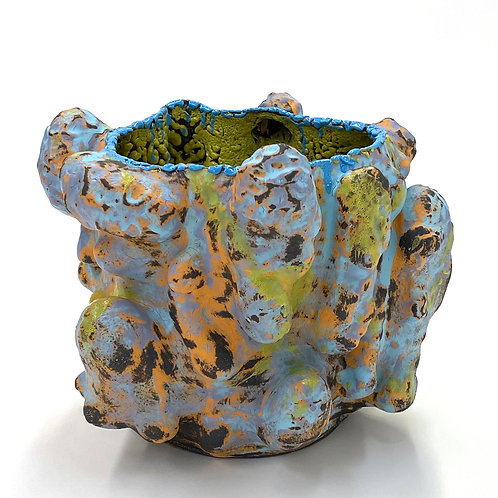 Vince Palacios, Abraded Vessel Blue and Gold No1028