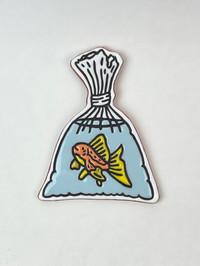 Fish in Bag Tile, 2021