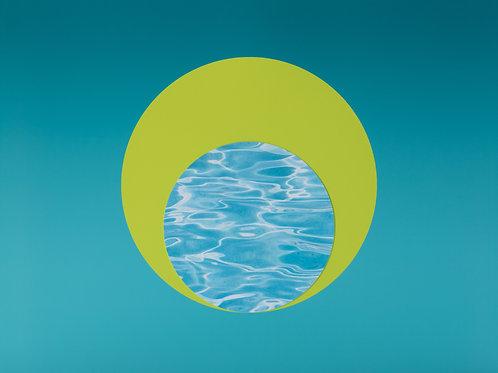 ALYSIA MACAULAY, Pool Water in Chartreuse Circle