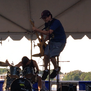 Ben in the Air at Yankee Homecoming Battle of the Bands 7/27/19