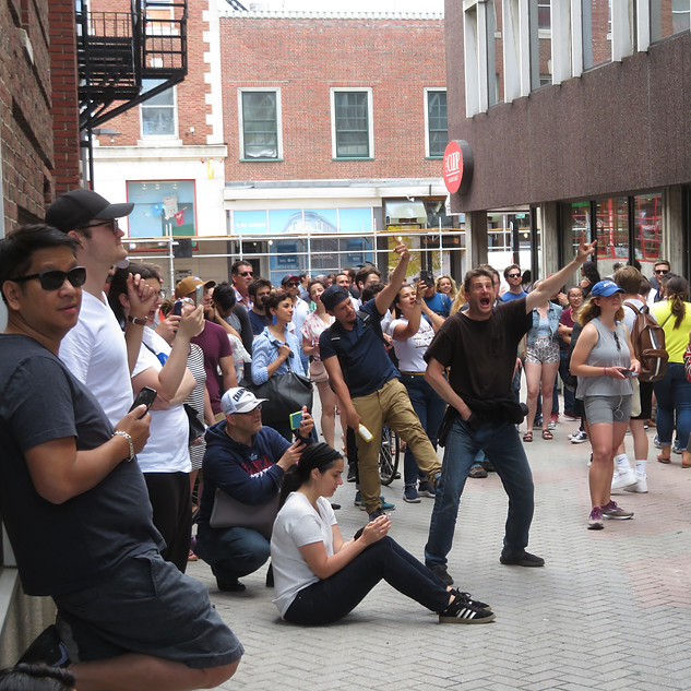 Born Yesterday's Crazy Crowd at Harvard Square 6/22/19