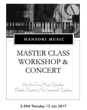Hansori Music Masterclass Concert at Fine Music Radio Station