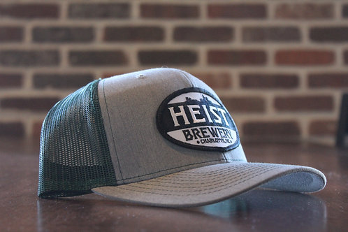 Heist Hat -Green & Grey