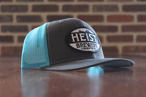 Heist Hat - Teal & Grey