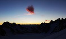 Drôle de nuage au Glacier Blanc