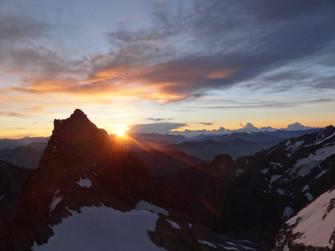 Levé de soleil depuis la Pointe Breevort