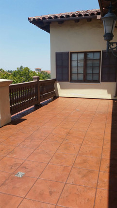 waterproofing balconies with a decorativ