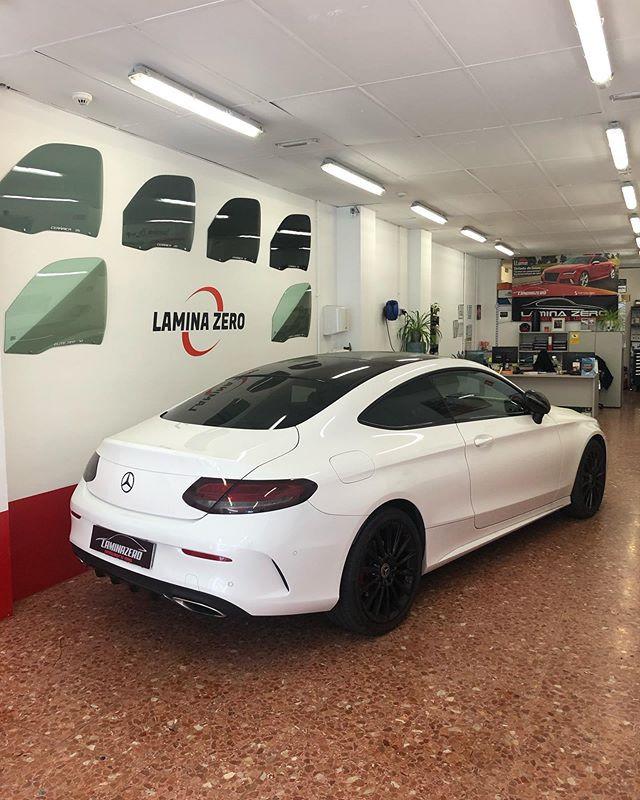 Mercedes C Coupe •▪️Vinilado de Faros •▪