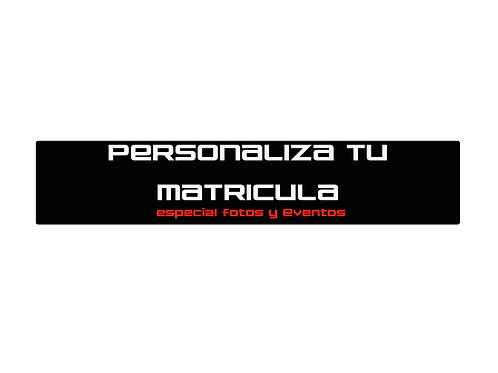 MATRICULA PERSONALIZADA