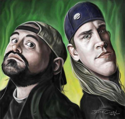 JAY AND SILENT BOB_Digital Painting, 2013__Snoochiebootchies!