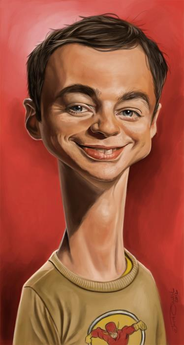 JIM PARSONS (Sheldon Cooper in Big Bang Theory)__Digital Painting - 2012