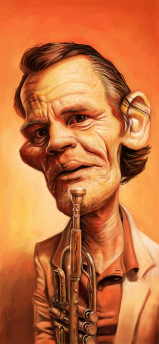 CHET BAKER_Digital Painting, 2015