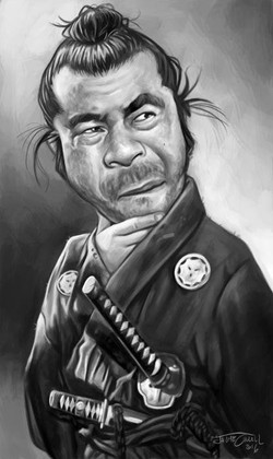 YOJIMBO (Toshiro Mifune)_DIgital Painting, 2016