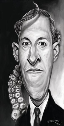 HOWARD PHILLIPS LOVECRAFT_Digital Painting, 2013__This one is for you,  Kreeslak!!